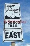 bild Hoodoo Trail Schild