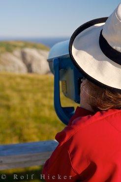 Bild Fernglas Aussicht Cape St Mary Vogelschutzgebiet